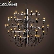 modern large big led black chandelier light 50 bulbs lamp for dining room foyer lamp entryway decoration bronze pendant light blue pendant light from