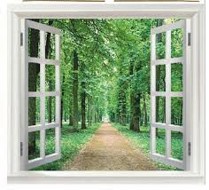 90x60cm 3d window scenery flower wall sticker decor decals removable ws