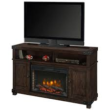 hudson 53 inch a fireplace in rustic brown