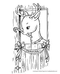 Small Picture Santas Reindeer Coloring Pages Prancer Santas Reindeer