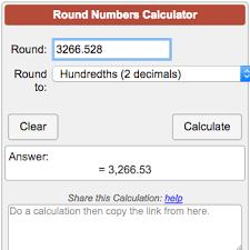Tenths Hundredths Thousandths Chart Rounding Numbers Calculator