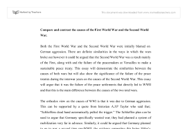 compare and contrast the causes of the first world war and the document image preview