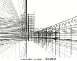 Abstract Architecture Design Wallpaper Stock Illustration