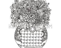 Small Picture March Doodled Calendar Coloring Page