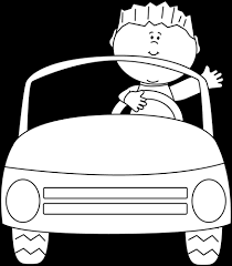 car driving clipart black and white. Interesting Driving Black And White Boy Driving A Car Clip Art  Inside Clipart And