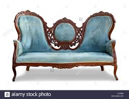 White vintage couch Vintage Style Blue Vintage Sofa On White Background With Clipping Path Chairish Blue Vintage Sofa On White Background With Clipping Path Stock Photo