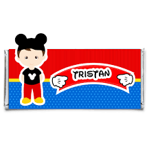 personalized chocolate bar wrappers mickey boy personalized candy bar wrapper set of 12 art paper creative party