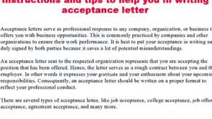 how to write an acceptance letter video dailymotion how to write an acceptance letter