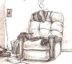 The Images Collection of Room comfy chair drawing with simple harry