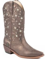 Roper Womens Light Up Studded Western Boots