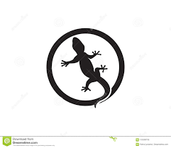 Lizard Logo Design Lizard Logo Design Vector Illustration Stock Vector