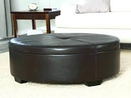 large upholstered ottoman cool fabric coffee table elegant round diy