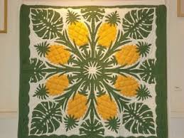 25 best Quilts-Hawaiian images on Pinterest | Blue and white ... & Hawaiian Pineapple quilt spotted on the island of Kauai Adamdwight.com