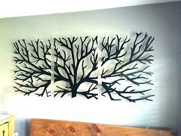 metal leaf wall art black