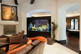 View in gallery Large aquarium separating rooms