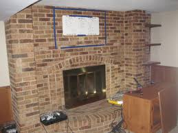 mounting flat panel tv on brick fireplace image collections