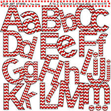 red and white chevron clip art. Clip Art Letters And Punctuation Chevron Red White Inside