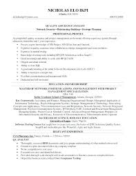 Sample Qa Test Technician Resume Quality Assurance Resumes Resume ...