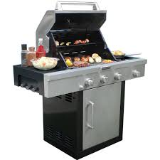 Delighful Kitchenaid 5 Burner Gas Grill Propane On Cart With Throughout Design Decorating