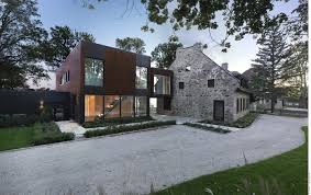 modern home architecture stone. Interesting Stone Old Home Meets Contemporary Architecture BordduLac House In Canada   Freshomecom With Modern Architecture Stone E