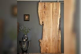 sliding wood slab barn door