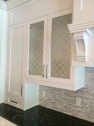 White Cabinet With Frosted Glass Doors Kitchen Glass Door Cabinets
