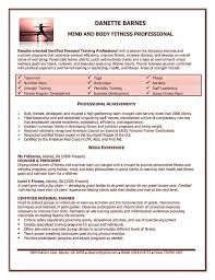 Personal Trainer Resume Example Sample