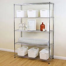 kitchen wire shelving. 5 Tier Chrome Metal Storage Rack/Shelving Wire Shelf Kitchen/Office Unit 180c Kitchen Shelving T