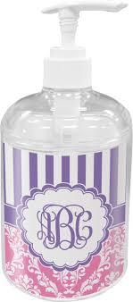 Purple Bathroom Accessories Set Pink Purple Damask Bathroom Accessories Set Personalized