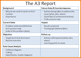 A3 Report Template For Lean A3 Problem Solving A3 Template To Apply