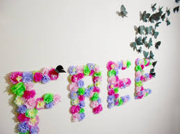 diy paper flowers and contemporary ideas wall decoration by paper medium size flowers