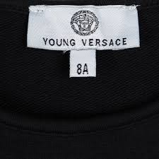 Young Versace Size Chart Young Versace Black Knit Medusa Logo Embellished Dress 8 Yrs