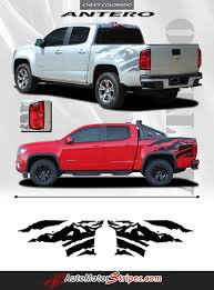 2018 chevrolet accessories. modren accessories 2015 2016 2017 2018 chevy colorado antero rear side truck bed mountain  scene accent vinyl graphics 3m stripes kit and chevrolet accessories r