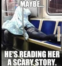 FunnyMemes.com • Funny meme - [Reading her a scary story] via Relatably.com