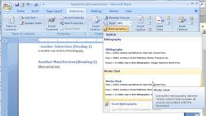 Help With Word To Create A Great Term Paper With A Bibliography Or