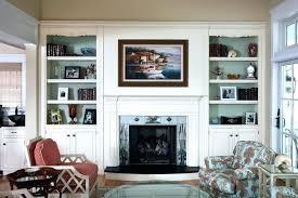 bookcase decorating ideas fireplace