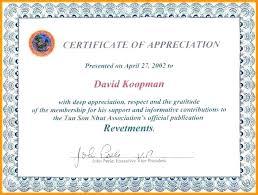 Sample Template Of Certificate Of Appreciation Vivafashion