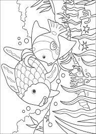Kids N Funcom Coloring Page Rainbow Fish Rainbow Fish