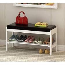 shoe cabinet solid wood shoe bench shoe rack storage living room door outdoor flip stool white