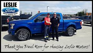 leslie motors on twitter paul kerr picking up his new ford f150 purchased from jonwalters30 of our wingham s team pk141 lesliemotors fordf150