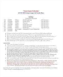 7 Team League Schedule Template Fantasy Football Golf Updrill Co