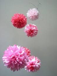 Paper Flower Mobiles Dear Stella Tissue Paper Pom Mobile Nursery