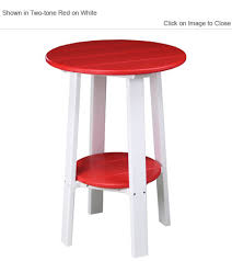 luxury poly furniture deluxe 28 inch high round side table
