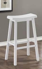 white saddle stool.  White White 29u0026quotH Saddle Seat Bar Stools  In Stool S