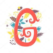 Vettore Tatuaggio Lettera G Con Cuore Lettera G Con I Fiori E L