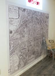 giant paris wall map how to make a statement wall with removable within map of