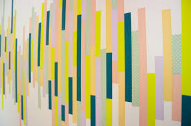 Wall Patterns With Tape Washi Tape Wall Tutorial The Symmetric