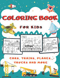 As soon as the coloring template of the train has been printed out, the children are motivated to start to color it in. Coloring Book For Kids Activity Book For Girls And Boys Ages 4 8 Coloring With Cars Trains Planes Trucks And More B Alisscia 9798686264700 Amazon Com Books