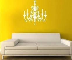 chandelier wall sticker chandelier wall decal crystal vinyl wall stickers art custom home decor chandelier wall