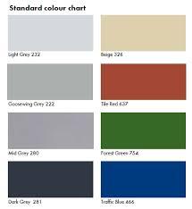 Flowcrete Color Chart Colour Charts Budget Sealants